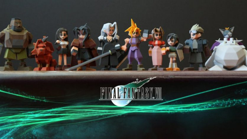 3D Printed Characters from Final Fantasy VII