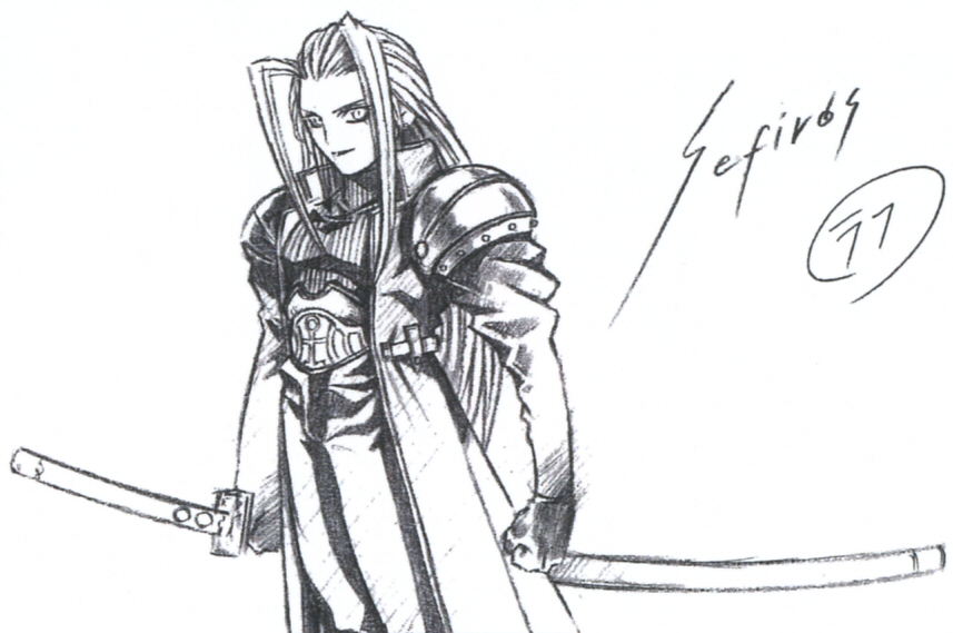 Early Sephiroth concept