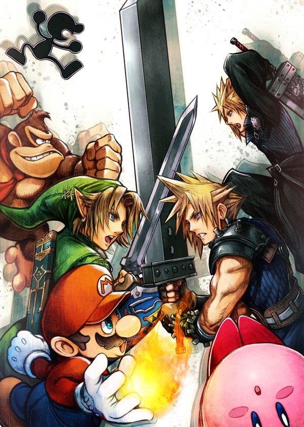 Tetsuya Nomura's Smash Bros. illustration