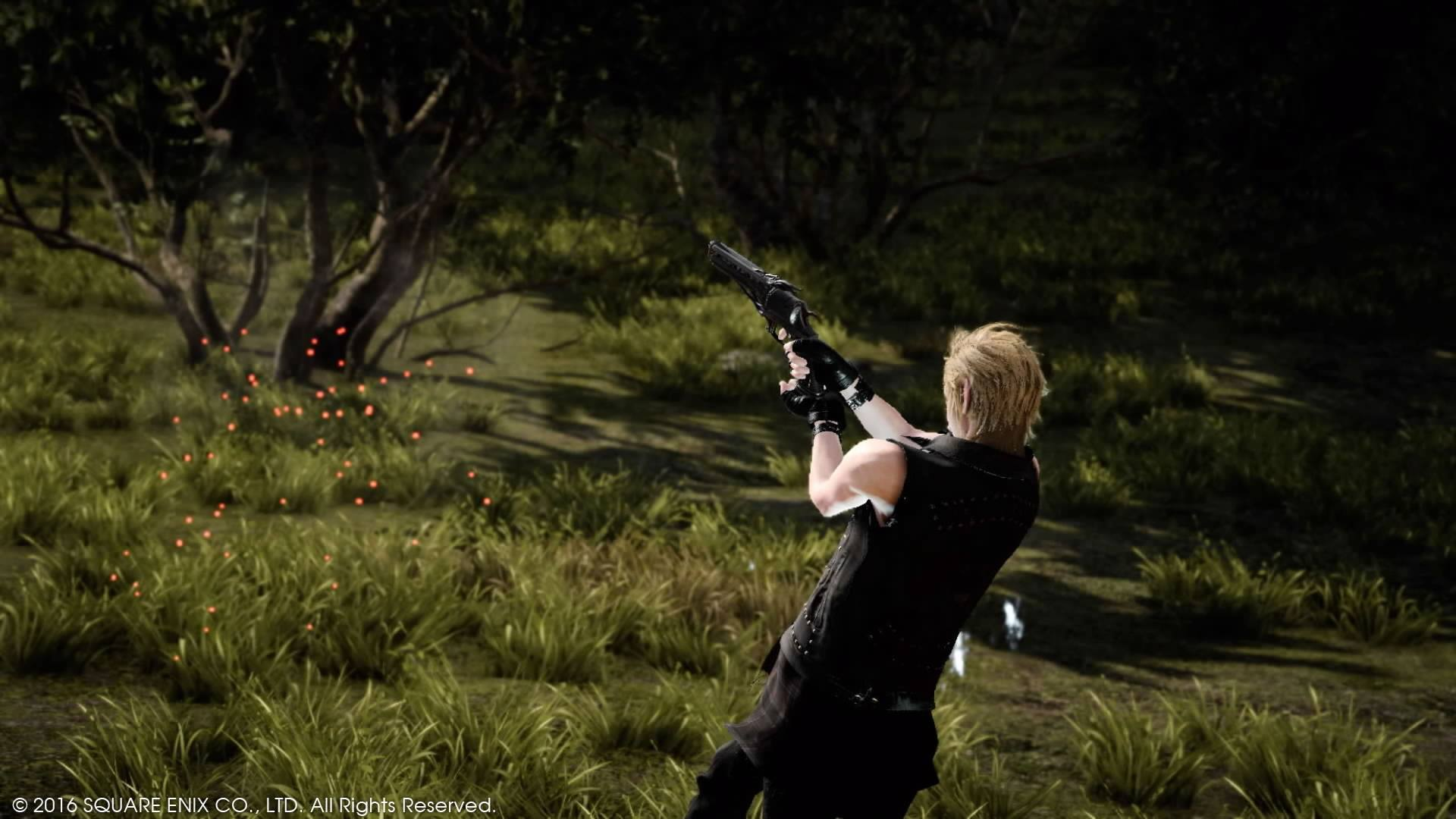 Prompto delivers a lethal bit of ballistics to your group... but who's taking the shot?
