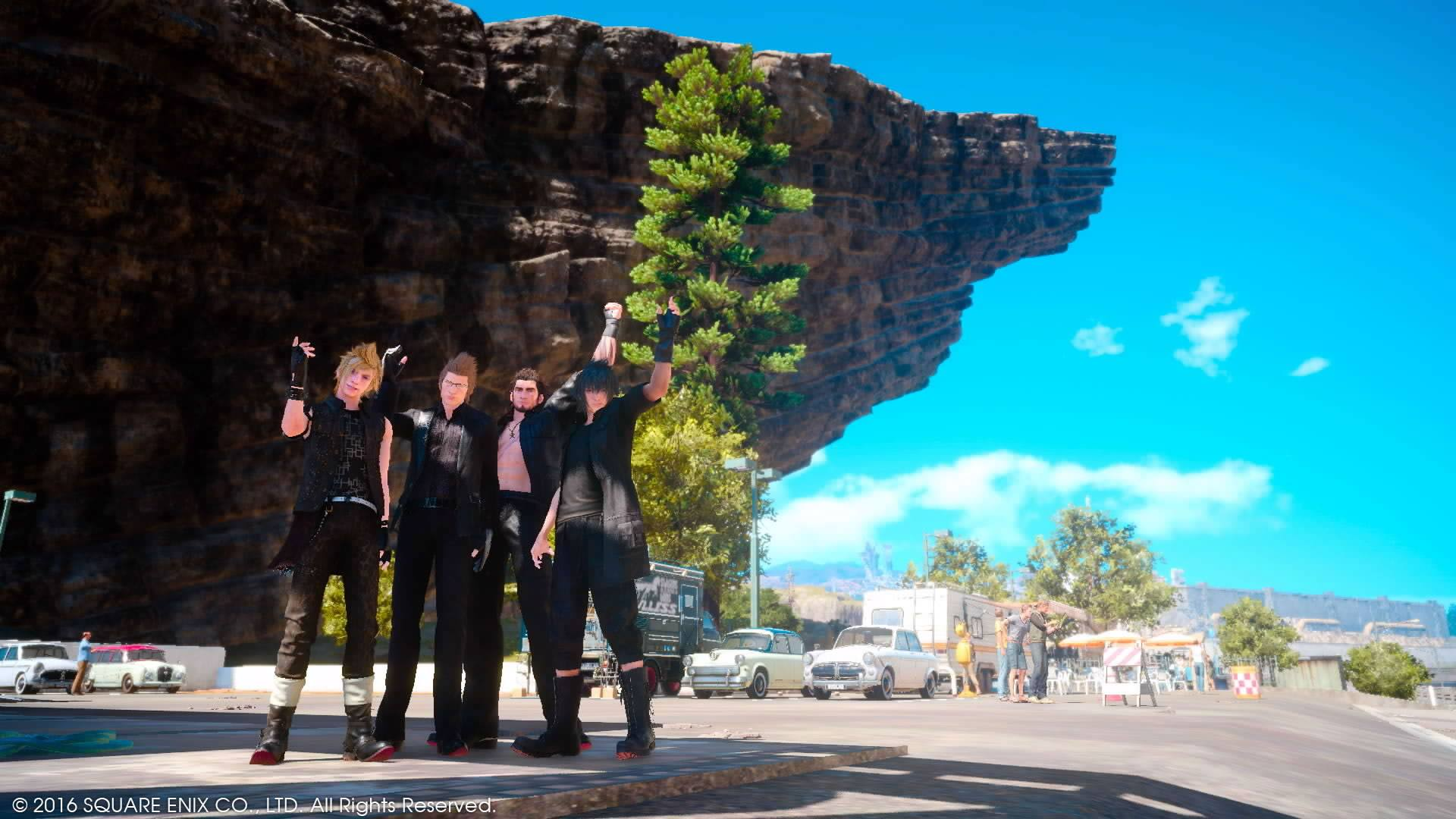 Final Fantasy XV sets you on a road trip with Noct and his three friends and protectors: Ignis, Gladiolus and Prompto.