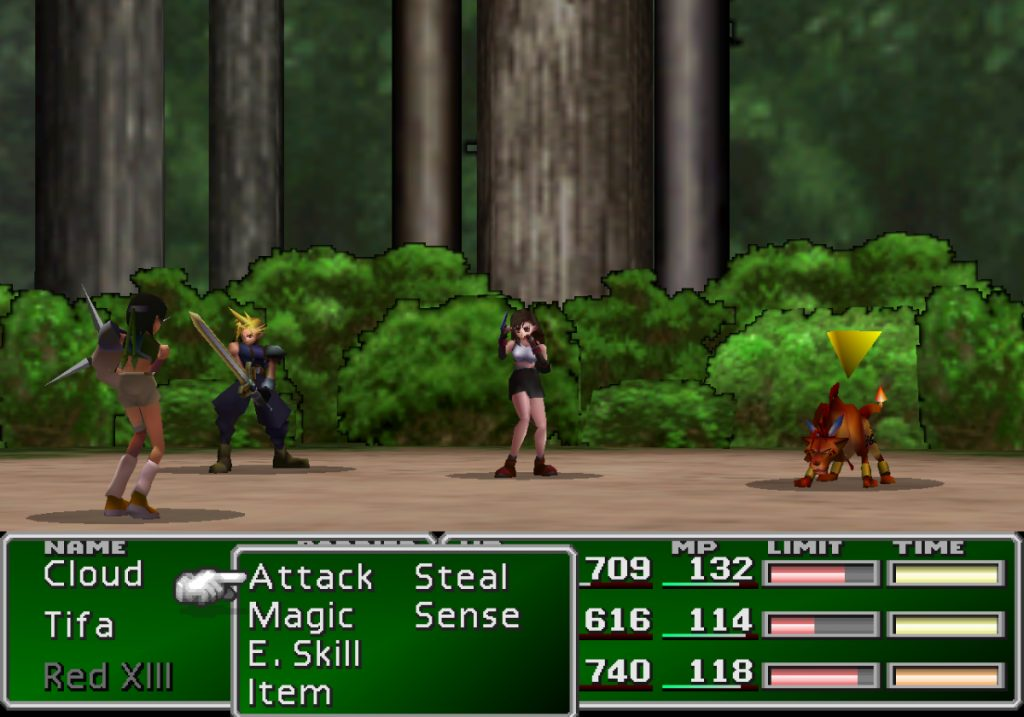 "The battle from Final Fantasy VII against the ""mystery ninja"" Yuffie Kisaragi."