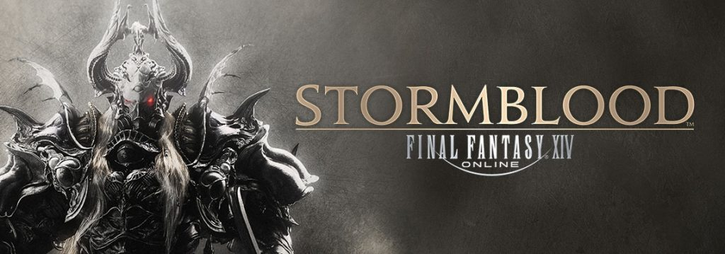 The Stormblood Logo featuring an ominous figure clad in Imperial armor.