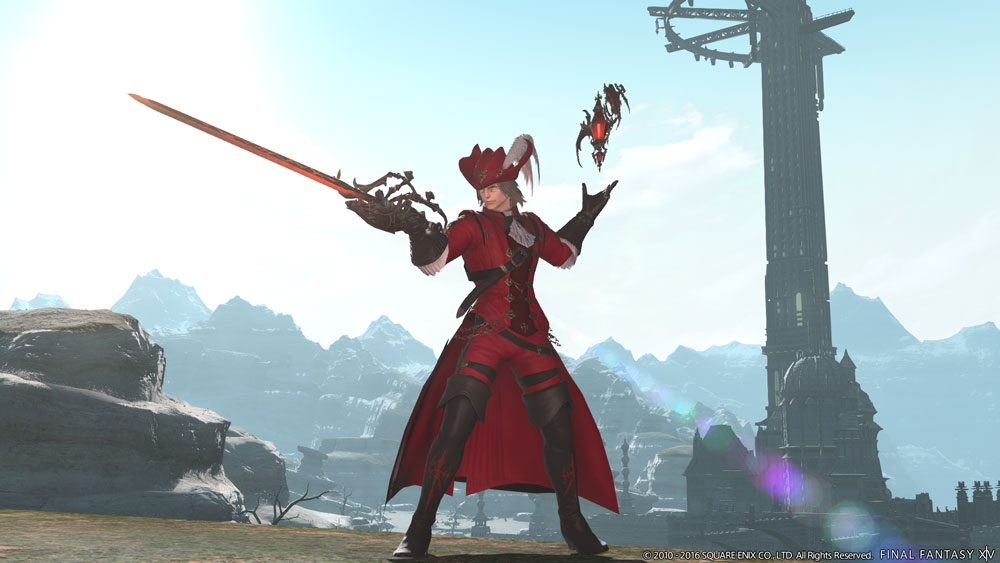 An image of the Red Mage, one of the new jobs in Stormblood.