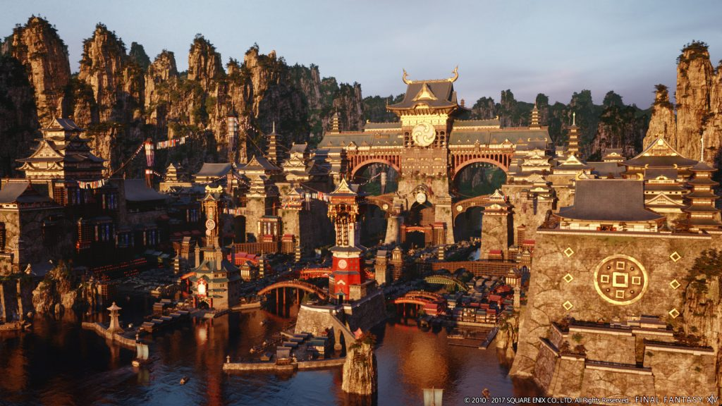 An image of the new city-state, Kugane.