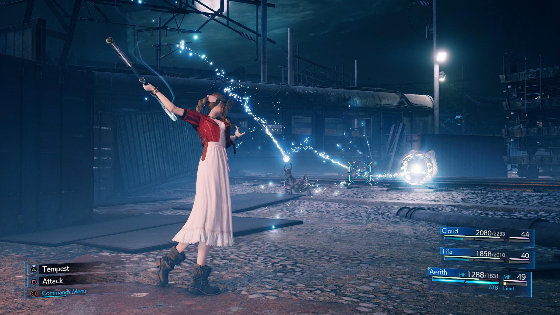 Aerith's combat - normal attack