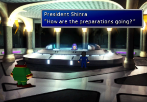 Cutscene in President Shinra's Office