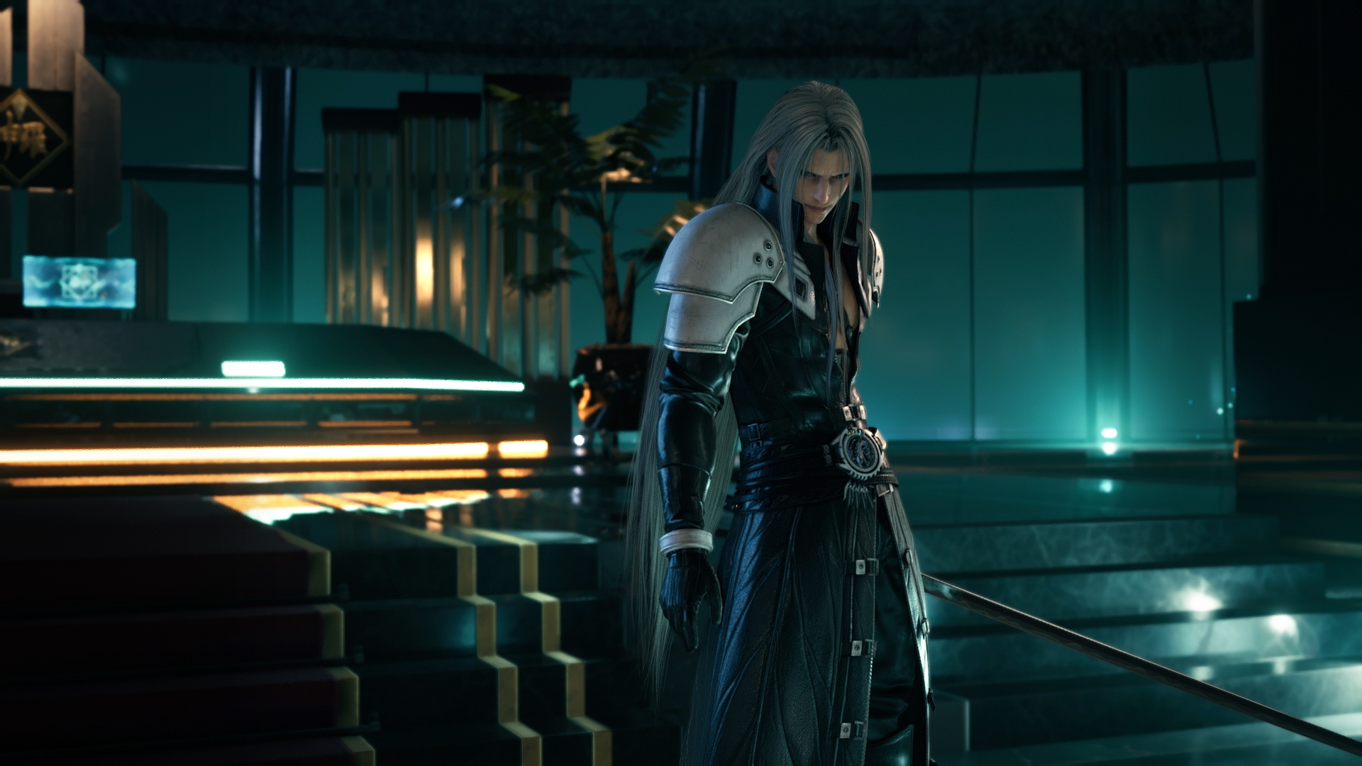 Sephiroth in President Shinra's Office