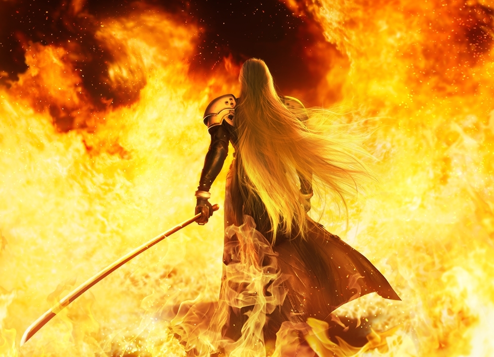 Sephiroth in flames key krt
