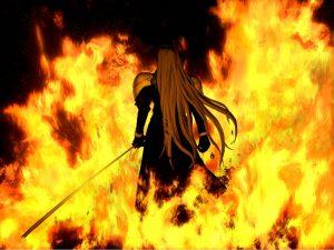 Sephiroth in Flames OG