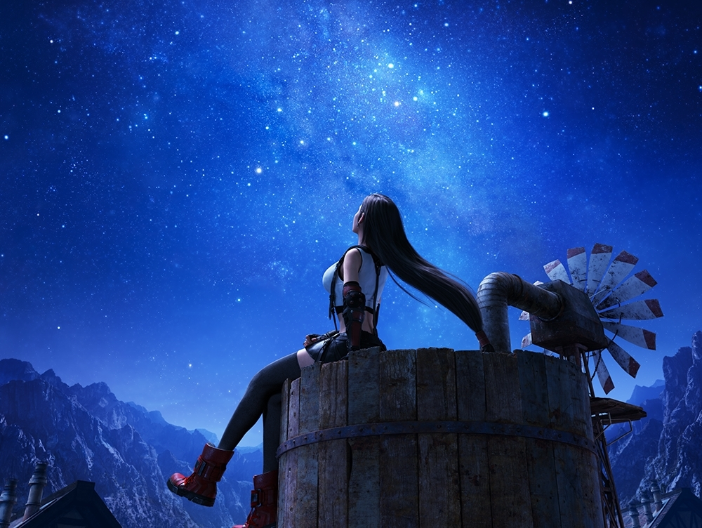 Tifa on water tower key art