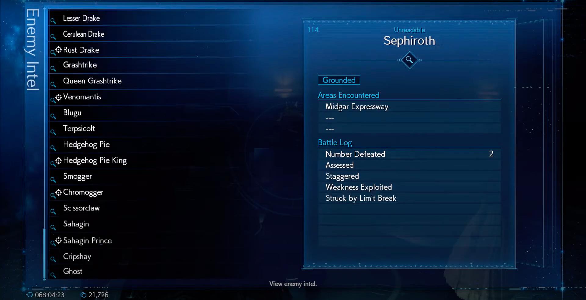 Enemy Intel: Sephiroth