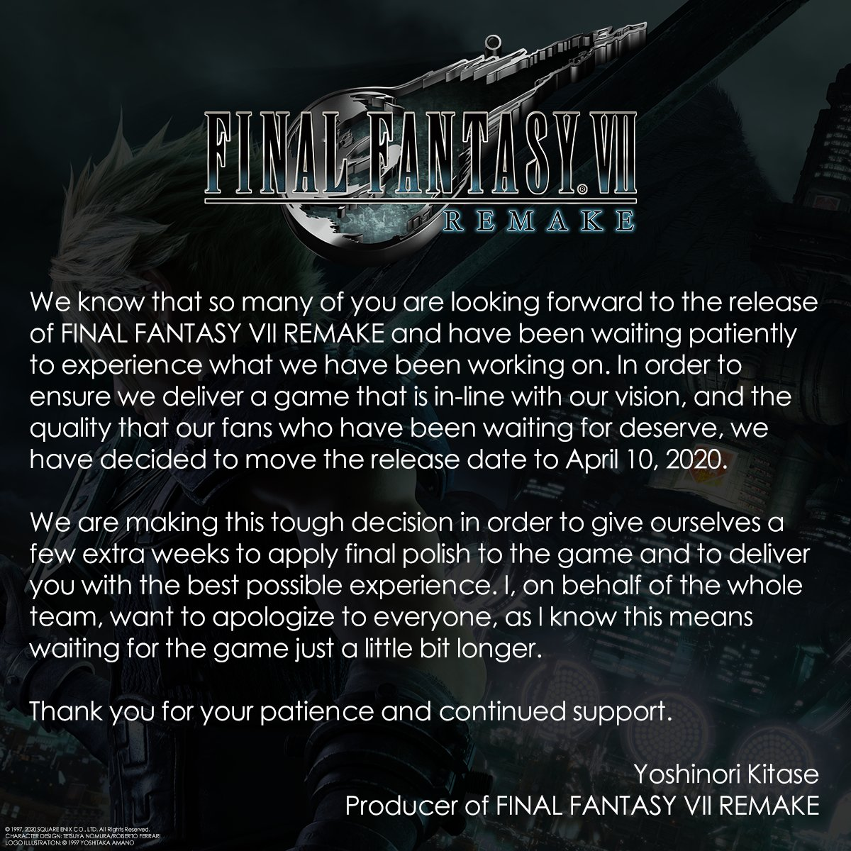 The Remake's Delay Announcement
