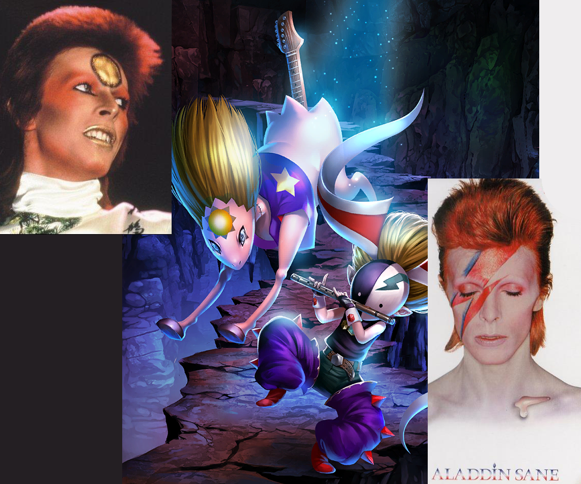 North Crater's & David Bowie's Ziggy, Christopher, & Aladdin