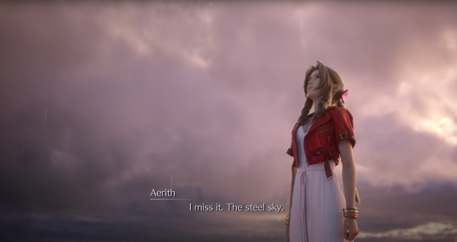 Aerith misses the steel sky